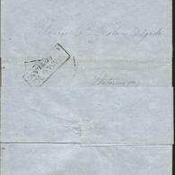 J) 1868 MEXICO, BLACK BOX, CIRCULATED COVER, FROM FRANCO EN COLOTLAN, DOUBLE STRIKE, XF - Mexico