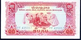 Laos 10 Kip ND 1975 P-20a UNC - Laos