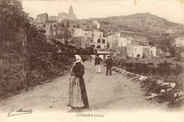 CORSE - Sur La Route De CORBARA, Bergère Portant Du Brocciu En Faisselles Déposées Sur Une Longue Planche - France
