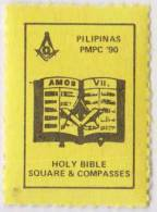 Freemasonry, Masonic Bible, Masonic Symbol, Compass, Poster Stamp, Philippines - Freemasonry