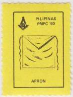 Freemasonry, Compass, Masonic Apron, Poster Stamp, Philippines - Freemasonry