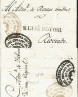 J) 1814 MEXICO, COLONIAL, BLACK BOX, GENERAL TREASURY OF THE STATE OF SAN LUIS POTOSÍ, CIRCULATED COVER, FROM SAN LUIS P - Mexico