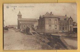 C.P.A. LACUISINE - L'Eglise Et L'Ecole Communale - Florenville