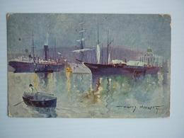 LLOYD AUSTIACO OFFICIAL POSTCARD - HARRY HEUSSER , USED 1912 - Piroscafi