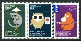 Australia 2009 Earth Hour Set MNH (SG 3153-3155) - 2000-09 Elizabeth II