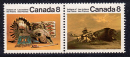 Canada 1972-6 Canadian Plains Indians 8c Pair, MNH, SG 721/2 - 1952-.... Reign Of Elizabeth II