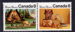 Canada 1972-6 Canadian Algonkian Indians 8c Pair, MNH, SG 723/4 - 1952-.... Reign Of Elizabeth II