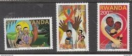 2003 Rwanda Rwandaise  AIDS SIDA Health Short Set Of 3 (Missing 500F)  MNH  Much Cheaper Than Buying Set!!. - Rwanda