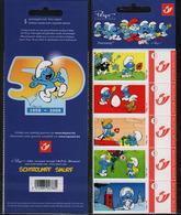 Schtroumpf, Peyo, BD, Carnet,  Timbre ** Belgique - Stamps
