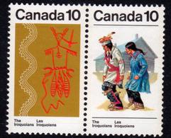 Canada 1972-6 Canadian Iroquoian Indians 10c Pair, MNH, SG 739/40 - 1952-.... Reign Of Elizabeth II