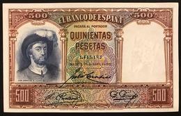 Spagna Spain 500 QUINIENTAS PESETAS 25/4/1931 PICK #84 Fds Lotto 453 Bis - [ 2] 1931-1936 : Repubblica