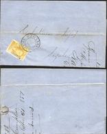 J) 1857 MEXICO, UN REAL YELLOW, CIRCULAR CANCELLATION, CIRCULATED COVER, FROM MEXICO TO SAYULA - Mexico
