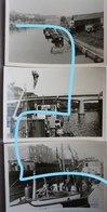 Photosx3 PENICHE Belge 1964 Binnenscheepvaart Barge Péniche - Schiffe