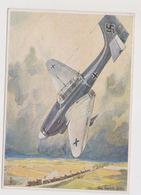 Sturzbomber-Angriff Auf Panzerzug , II°WW,  Illustrata   - F.G. -  Anni '1940 - Guerra 1939-45