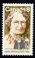 Canada 1973 Nellie McClung Birth Centenary, MNH, SG 761 - 1952-.... Reign Of Elizabeth II
