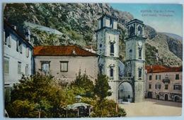 MONTENEGRO - KOTOR - CATTARO TRG SV. TRIFUNA , K.U.K. MILITARPOST CATTARO 1916 - Montenegro