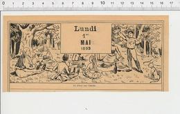 2 Scans 1893 Le Dîner Sur L'herbe Thème Déjeuner En Plein Air Pique-nique 226ZF - Zonder Classificatie