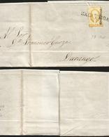 J) 1856 MEXICO, UN REAL YELLOW, CIRCULATED COVER, FROM ZACATECAS TO DURANGO - Mexico