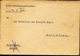 BELGIUM  WW1 COVER TO ANTWERPEN - WW I