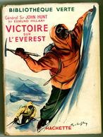 """Bibliothèque Verte Avec Jaquette -  Hunt & Hillary - """"Victoire Sur L'Everest"""" - 1955 - Bibliothèque Verte"""