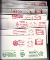 ALCOY - COLECCIÓN 26 CARTULINAS CON SU FRANQUEO MECANICO DIFERENTES TODOS DE ALCOY AÑOS 90.VER IMAGEN -OCASION - Marcofilie - EMA (Print Machine)