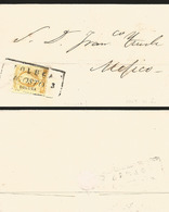 J) 1857 MEXICO, U REAL CANCELLATION, BLACK BOX, CIRCULATED COVER, FROM TOLUCA TO MEXICO - Mexico
