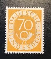 1949 Posthorn 70 Pf Postfrisch ** Mi 136 500€ (MNH OG BRD Bundesrepublik Deutschland RFA NEUF - [7] Federal Republic