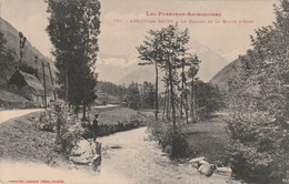 Carte Postale Ancienne De L'Ariège - Les Pyrénées Ariègeoises - Aulus Les Bains - Le Garbet Et La Route D'Oust - Andere Gemeenten