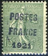 France Préoblitéré N°34*, Fausse Surcharge - Préoblitérés