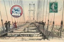 Themes Div-ref CC424- Ponts - Marseille - Le Pont Transbordeur - Vignettes - Vignette Du Transbordeur De Marseille 1908 - Brücken