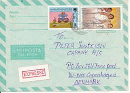 Libya Express Air Mail Cover Sent To Denmark 1986 - Libya