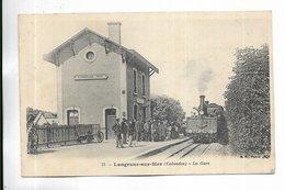 14 - Langrune-sur-Mer ( Calvados ) - La Gare - Animée + Train - Other Municipalities