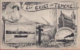 Een Groet Uit Temche Temsche Temse Tamise Belle Epoque ZELDZAAM (In Zeer Goede Staat) - Temse