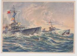 Zerstörer,  II°WW,  Illustrata Da Kablo Nel 1939   - F.G - Weltkrieg 1939-45