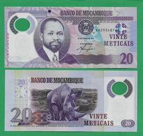 MOZAMBIQUE - 20 METICAIS - 2011 - UNC  POLYMER - Mozambique