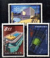 APR2561 - FORMOSA TAIWAN 1961 , Yvert N. 388/389B  *  Linguella (2380A) Reattore Atomico - 1945-... República De China