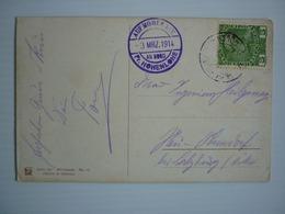 LLOYD AUSTRIACO PRINZ HOHENLOHE , AUF HOHER SEE 1914 STAMP , RARE - Piroscafi