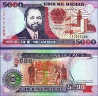 MOZAMBIQUE - 5 000 METICAIS - 1991 – UNC - Mozambique