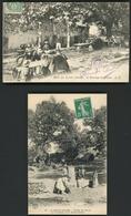 """LA SAINTE BAUME FERME DE GINIEZ. Deux Cartes : """"L'auberge De Giniez"""" Et """"La Fontaine Et Le Grand Chêne"""" - Other Municipalities"""
