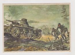 Infanterie Geht Im Schutz Von Panzer-Kampfwagen Vor ,  II°WW,  Illustrata Da Gutschke Nel 1940   - F.G - Weltkrieg 1939-45