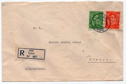 1932 KINGDOM OF YUGOSLAVIA, SLOVENIA, TRZIC TO KRANJ, REGISTERED MAIL - Covers & Documents