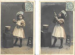 Cpa Illustrateur LIEBERT      ENFANT   Et Cuisine   2 Cartes - Autres Illustrateurs