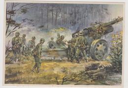 Schwere Artillerie ,  II°WW,  Illustrata Da Gutschke Nel 1940   - F.G - Weltkrieg 1939-45