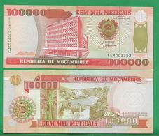 MOZAMBIQUE - 100 000 METICAIS - 1993 - UNC - Mozambique