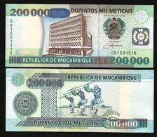 MOZAMBIQUE - 200 000 METICAIS - 2003 - UNC - Mozambique