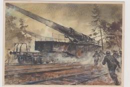 Eisenbahngeschütze ,  II°WW,  Illustrata Da Gutschke Nel 1940   - F.G - Weltkrieg 1939-45