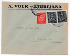 1932 KINGDOM OF YUGOSLAVIA, SLOVENIA, LJUBLJANA TO KRANJ, A. VOLK - Covers & Documents