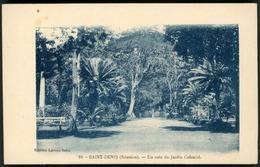 """SAINT DENIS REUNION / """"UN COIN DE JARDIN COLONIAL"""". Edition Léonce Salez N°10. - Réunion"""