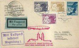 1931 - Landungsfahrt Magdeburg - Vertragspost Österreich - S 109 A A - Zeppelin