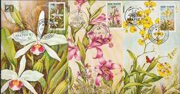 Brazil Set On 3 Maximum Cards - Orchids